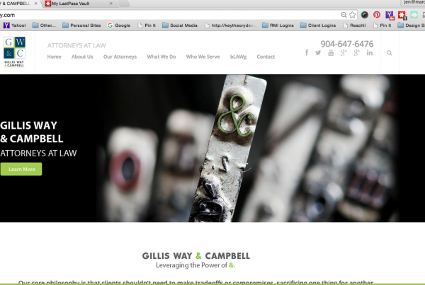 Gillis Way Campbell website